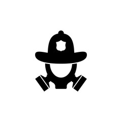 fire helmet and gas mask icon. Element of firefighter shop for advertising signs, mobile concept and web app. Icon for website design and development, app development. Premium icon