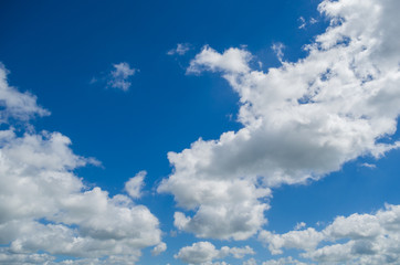 Background of blue sky and white clouds for various uses