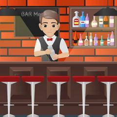 Male Bartender Holding Shaker