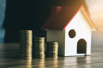 Saving money to buy a home in the future.