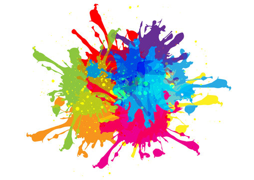 abstract vector splatter color design. illustration vector color design