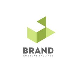simple 3d box logo design, hidden box geometric logo, symmetric symbol, square icon, square shape Company logo