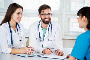 Group of doctors in the clinic