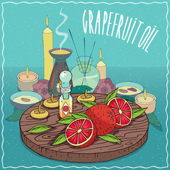 Grapefruit oil used for aromatherapy