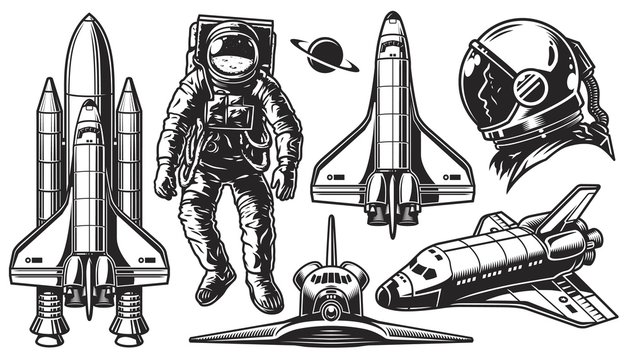 Set of vector object of space.