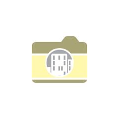 Building Camera Logo Icon Design