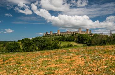 Monteriggioni castle, Tuscany