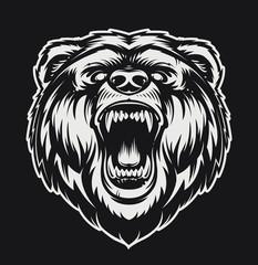 Vector Roaring Bear