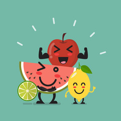 Healthy food emoji characters