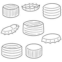 vector set of bottle cap