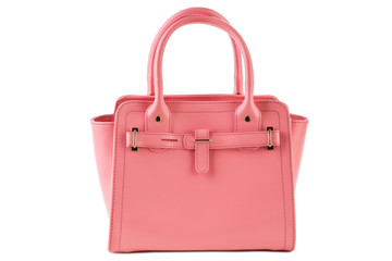 pink female bag on a white background