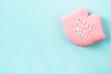 Heart shaped Valentines candies.