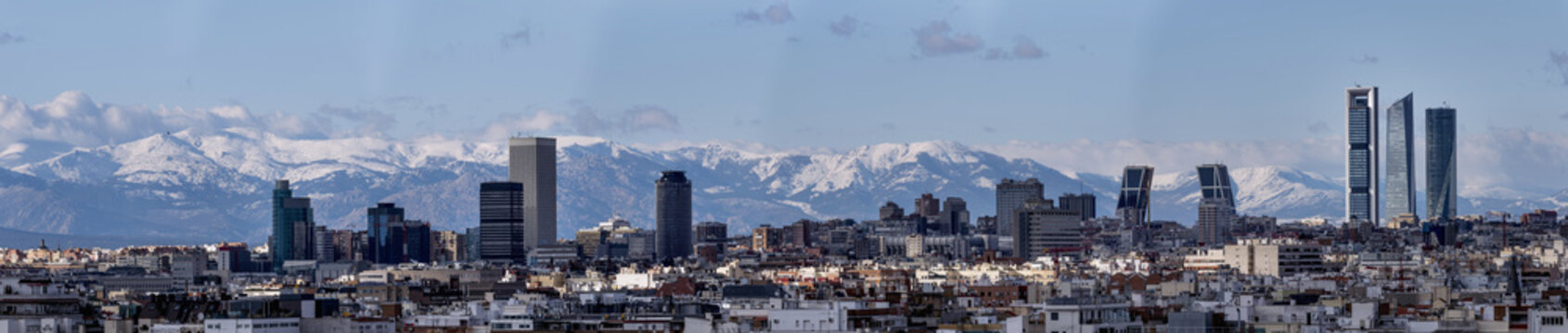 Skyline of the city of Madrid, capital of Spain