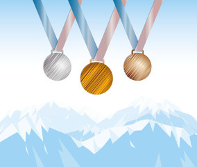 médaille d'or, argent et bronze
