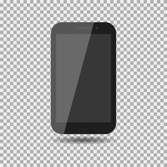 Realistic modern mobile phone on isolate background. Vector illustration.