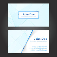 Hi-tech technology expert business cards layout template