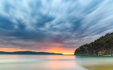 Cloudy Sunrise Seascape