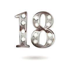 18 years anniversary celebration design