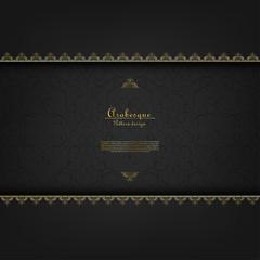 Arabesque vintage element classic gold background vector