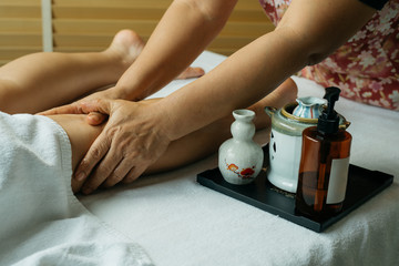 Aromatherapy massage series: leg massage