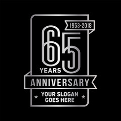65th anniversary logo. Vector and illustration.