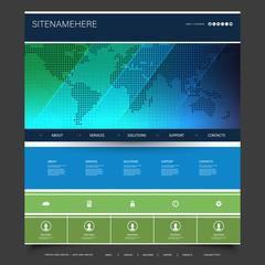 Global Business, Technology - Website Template Design