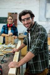 Portrait of male carpenter