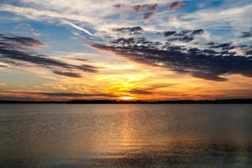 Oklahoma lake sunset.