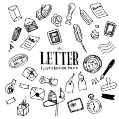 Letter Illustration Pack