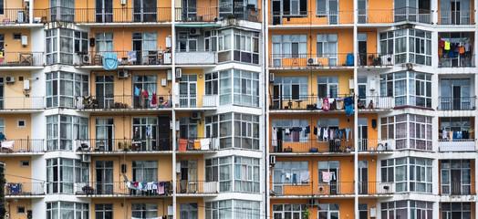 Facade of the multi-storey building Fototapete