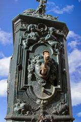 Concarneau. Fontaine municipale. Finistère. Bretagne