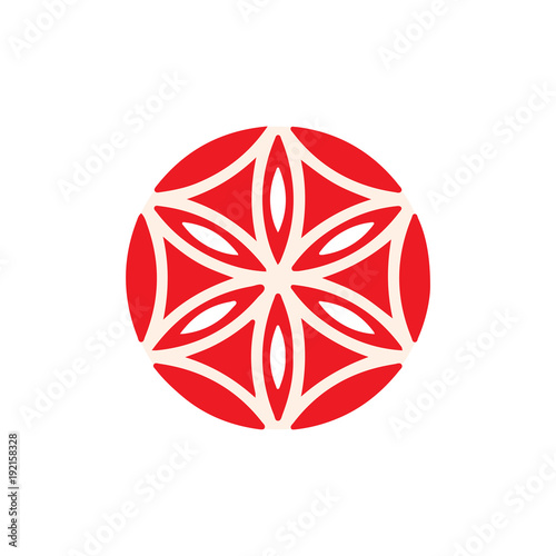 Vector Symbol The Flower Of Aphrodite Made Up Of Six Vesica Piscis