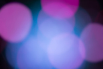 blurred lights or bokeh lights from disfocused the camera lens