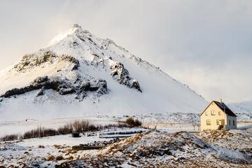 arnastapi beautiful town on winter, iceland
