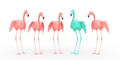 pink flamingo - green is the new pink