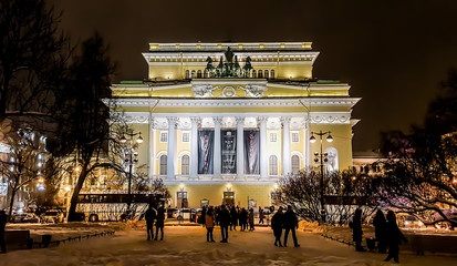 The Alexandrinsky Theatre or Russian State Pushkin Academy Drama Theater. St.Petersburg, Russia