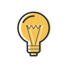 Light Bulb Vector Line Icon.