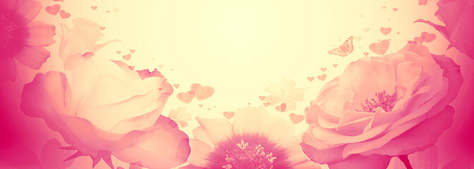 Valentines day floral background.
