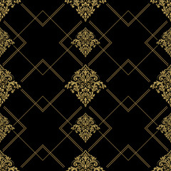Baroque Seamless Pattern. Abstract seamless pattern with ornament