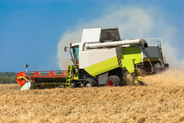 Combine harvester in action - 253816