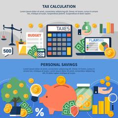 Taxes Horizontal Banners