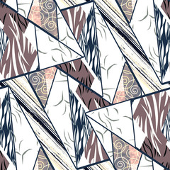 Seamless pattern-pattern with ethnic pattern, stripes.
