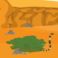 Desert snake cartoon