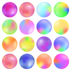 Colorful fluid, Round gradient set, modern abstract backgrounds. Trendy soft color. Template for screens and mobile app. Vector illustration, design element for cards, calendar, brochure, invitation