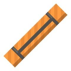 Yoga mat icon, flat style