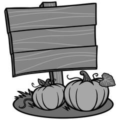 Fall Festival Sign Illustration - A vector cartoon illustration of a Fall Festival Sign.