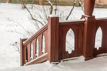 snowy terrace - outdoors scenic view