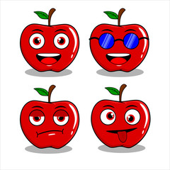 APPLE CHARACTER MASCOT EXPRESSION PACK