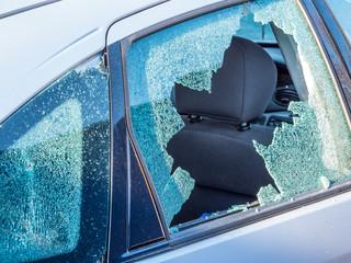 Vandalismus Autoscheibe