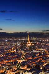 Night Paris from above.